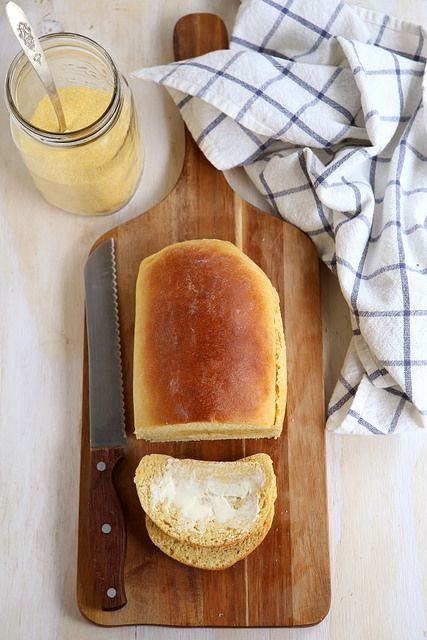 Yeasted Honey Cornbread Loaf by Completely Delicious, via Flickr