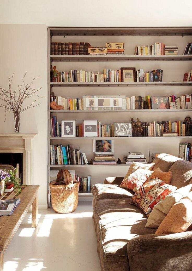 Minimalist Home Interior 15 Minimalistische Boekenplank Die Ideen Voor Het Verbaz In 2020 Minimalist Bookshelves Bookshelves In Living Room Interior Design Living Room Shelf decorating ideas living room