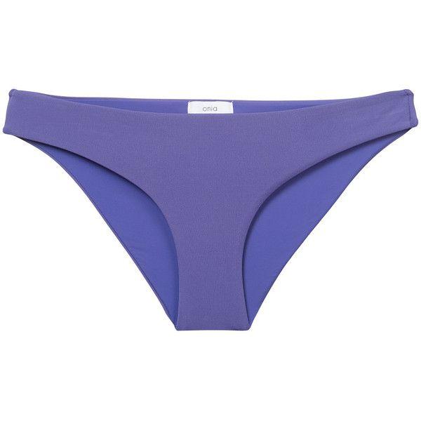 Onia Lily bikini bottoms ($93) ❤ liked on Polyvore featuring swimwear, bikinis, bikini bottoms, purple, bottom bikini, purple swimwear, purple bikini, onia swimwear and lily swimwear