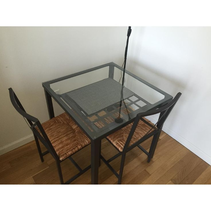 Ikea granas dining table w 2 chairs dining and - Table basse verre ikea ...