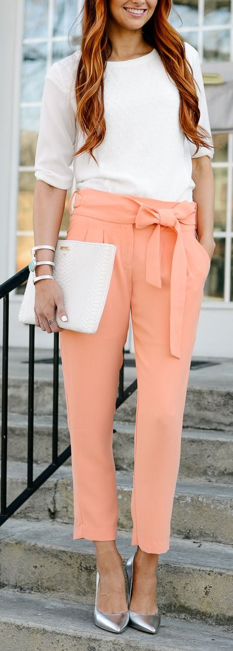 Peach + metallic.