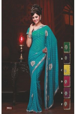 sari-indien-de-mariage-mariage-bollywood-turquoise-brode-de-perles