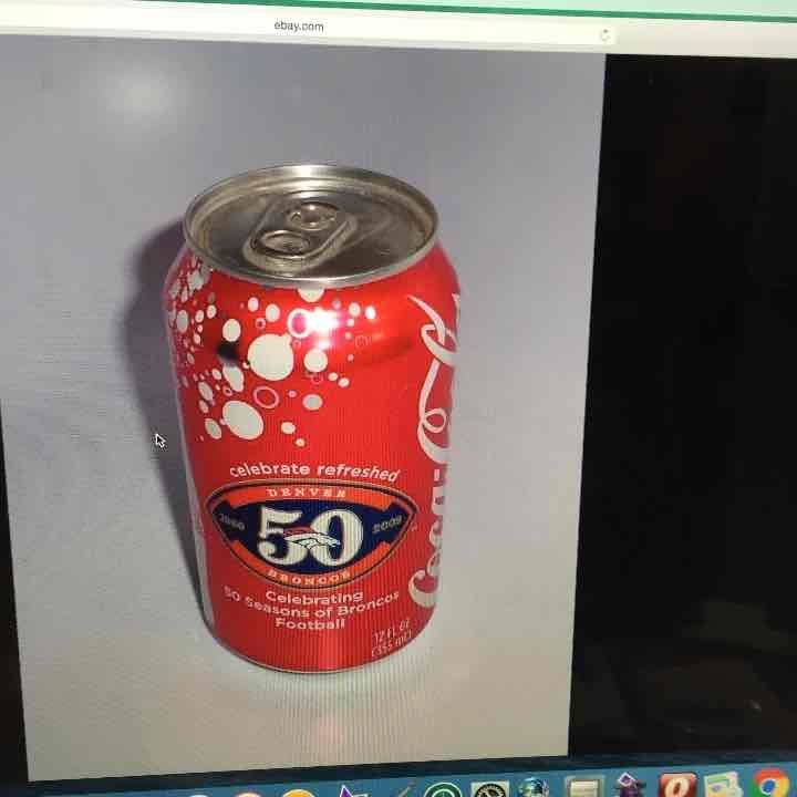 Cool item: Denver Broncos 50 years coke can