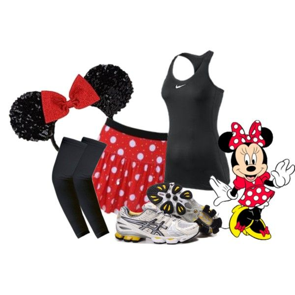 Minnie Mouse...they have all the girl Disney characters...if I ever run the Disney Half Marathon I'll want one of these outfits!!
