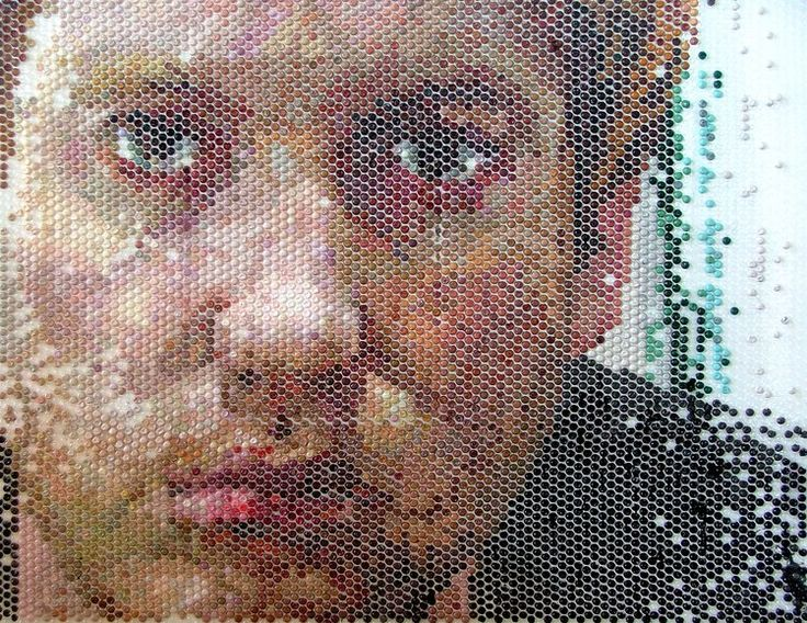 A Portrait Bubble Wrap Art Art Painting