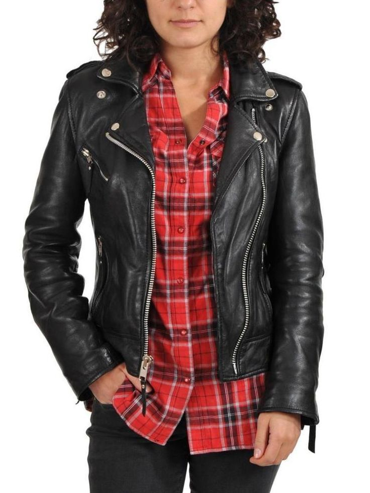 142 best Original Lambskin Biker Leather Jacket images on ...