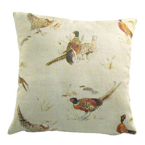 Add a rustic touch to your home with this animal print cushion cover, with a traditional pheasant pattern and a linen look design it can help bring a soft finish to your country living room.