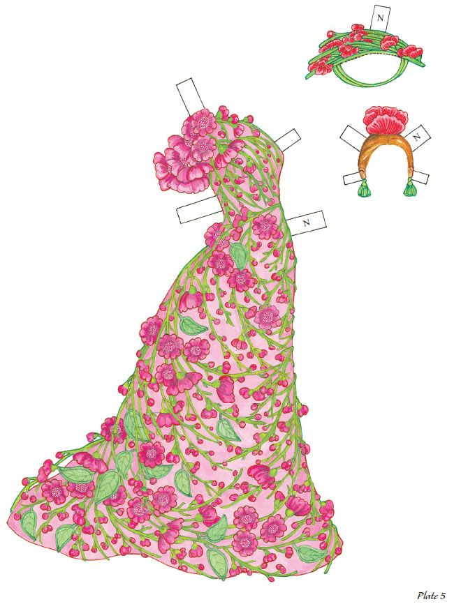 Welcome To Dover Publications Flower Fashion Fantasies Paper Dolls