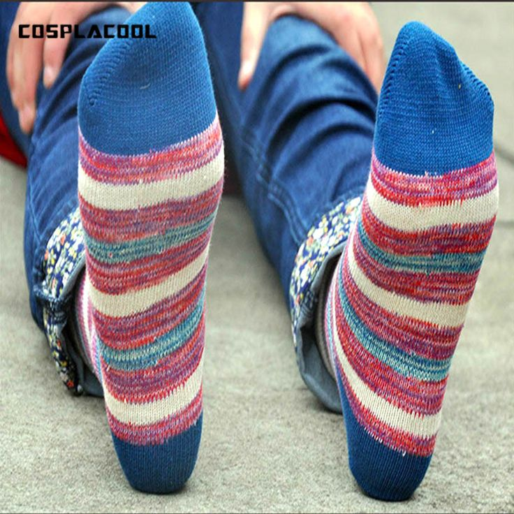 >> Click to Buy << [COSPLACOOL] Harajuku Japan trend Crude needle calcetines Retro national style hemp socks colorful meia men socks big size #Affiliate