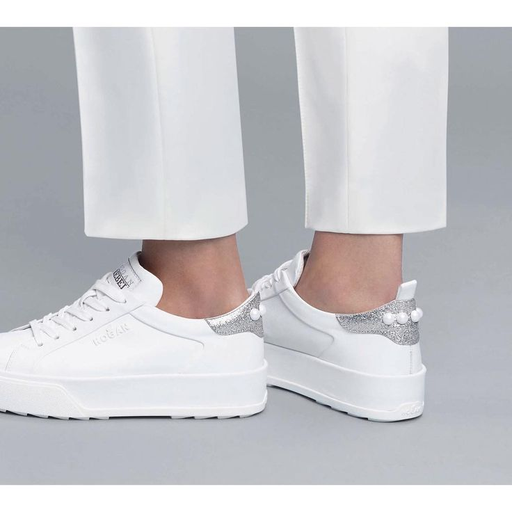 The #HOGAN #SS17 #H320 #sneakers with white pearl details on the back  Join the #HoganClub #lifestyle and share with us your @hoganbrand pictures on Instagram