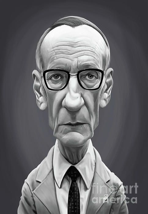 William Burroughs art | decor | wall art | inspiration | caricature | home decor | idea | humor | gifts