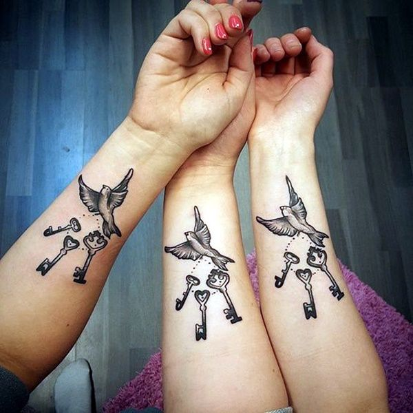 25 best ideas about sister tattoo designs on pinterest for Tattoos for sisters of 3