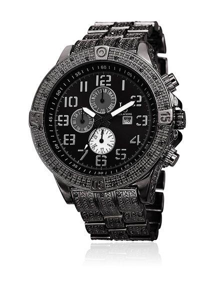 Joshua & Sons Schweizer (Quarz)-Uhr 51 mm JS78BK bei Amazon BuyVIP