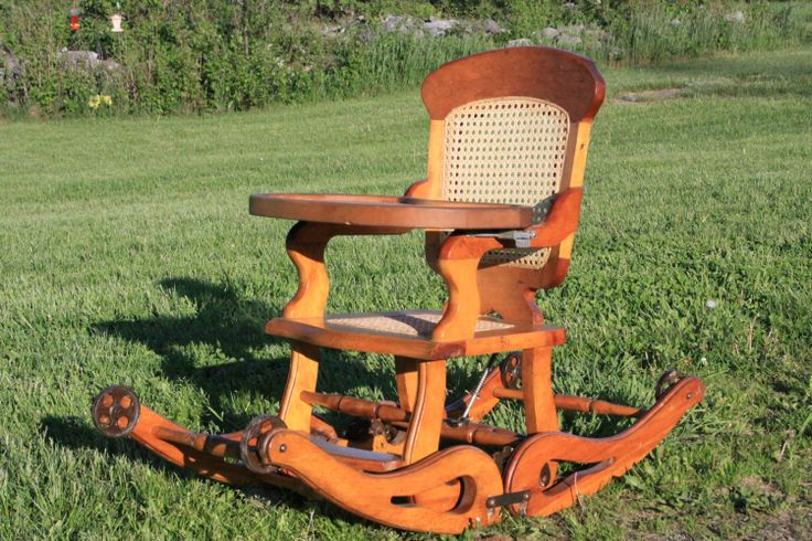 Antique High Chair/Rocker ON SALE by mdgomezy1414 on Etsy