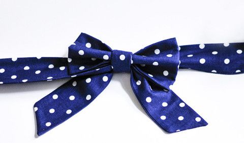 Navy Polka Dot - Handmade Sailor Tie