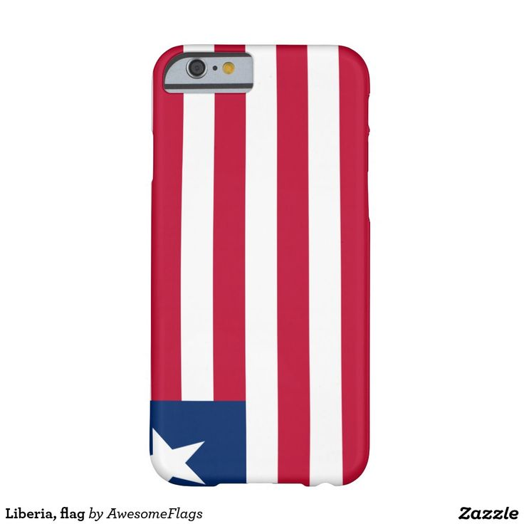 Liberia, flag barely there iPhone 6 case