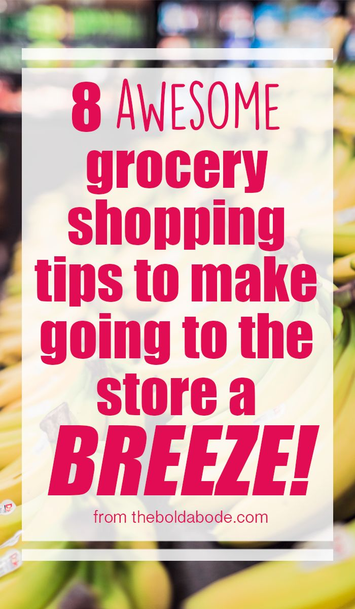 Do you dread grocery shopping?  Here are 8 awesome grocery shopping tips tomake going to the store a BREEZE! #shopping #groceries #grocery