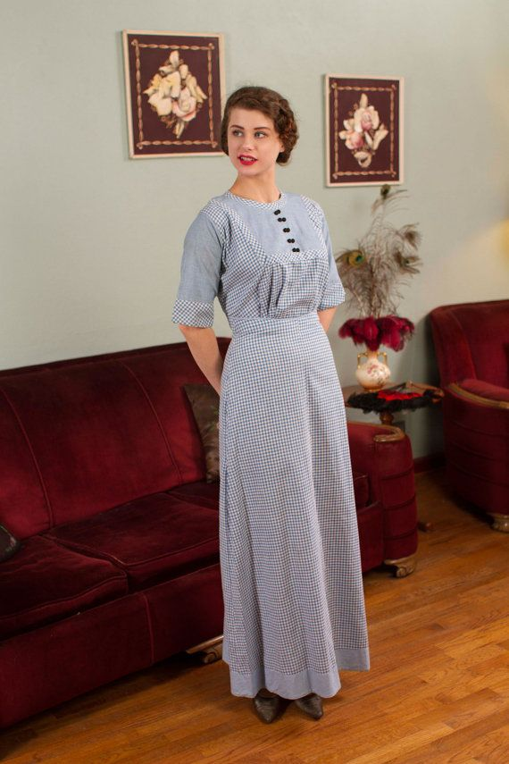 vintage edwardian dress cotton housedress or