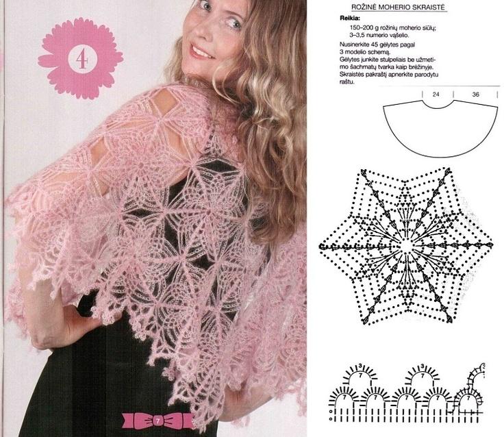 Hermosa Los Patrones De Crochet Libre Poncho Uk Festooning - Patrón ...