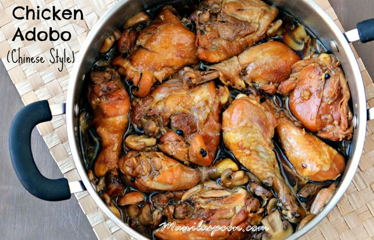 Chicken adobo chinese style style everything and spoons for Adobo filipino cuisine