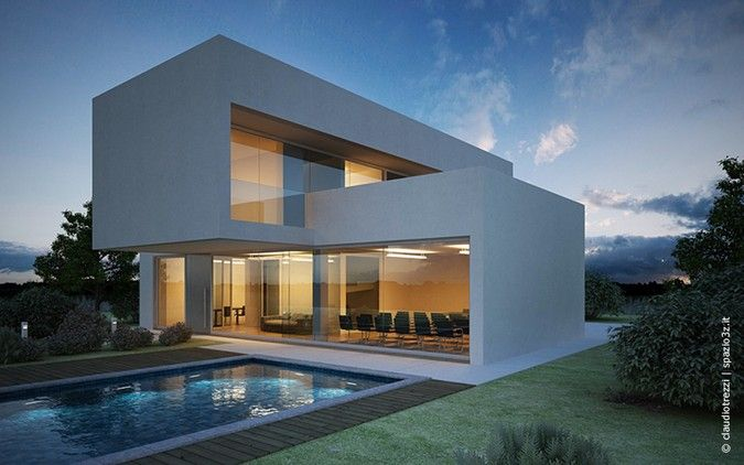Oltre 25 fantastiche idee su case con piscina su pinterest for Case architettura moderna