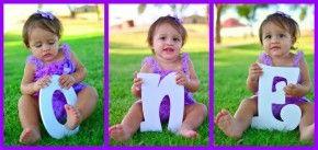 1 jaar! Wat een schattig foto idee #uitnodiging