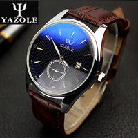 Lederen band mannen quartz horloge kalender blu-ray lichtgevende horloges heren horloge relogio masculino