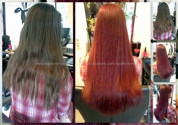 Hajdúsítás 60 cm-es európai hajból, festéssel. www.hajbevarras.hu www.fb.com/hajbevarras #hajhosszabbitas #hajdusitas #hairextension