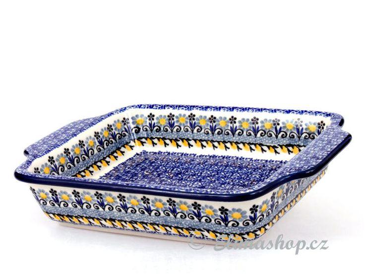 """Baking dish 23/15,5cm (9/6"""") - *** ELIMAshop.cz *** Handmade Polish Pottery from Boleslawiec . Bunzlauer keramik . ceramics . stoneware . ELIMAshop.cz , shipping worlwide . Artystyczna ."""