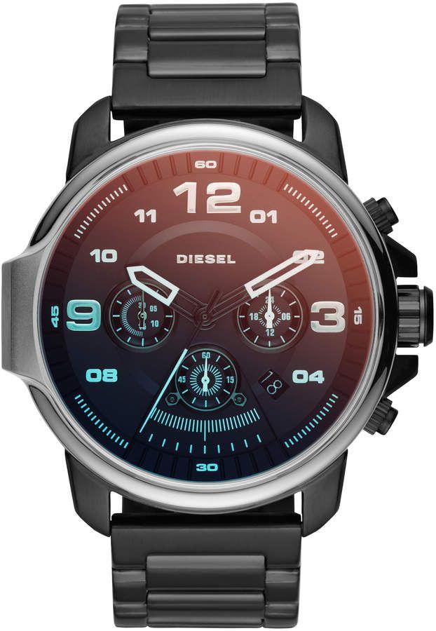 Diesel Dz4434 Gunmetal Tone Blue Watch Diesel Watch Blue Watches Diesel Watches For Men