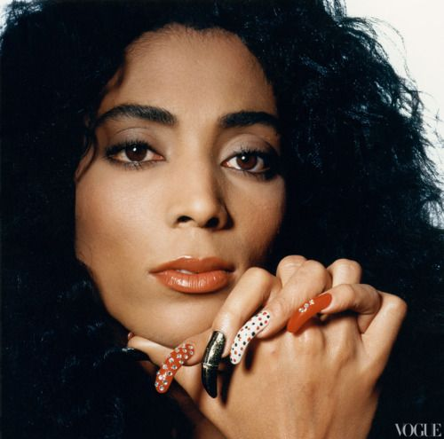 Olympic icon Florence Griffith Joyner, photographed by Irving Penn forVoguein 1989. Ms. Griffith Joyner won 5 Olympic medals in her career (4 gold, 1 silver) and shattered two world records. The Los Angeles-born athletic superstar was also a superstar of style - designing her own trademark one-legged track suits and wearing brilliantly designed eye-catching nails that matched her outfits and quite often, the stars and stripes of the U.S. flag. Flo Jo died in 1998 at the age of 38