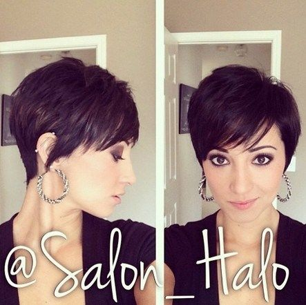 Short Haircut with Side Bangs http://www.jexshop.com/