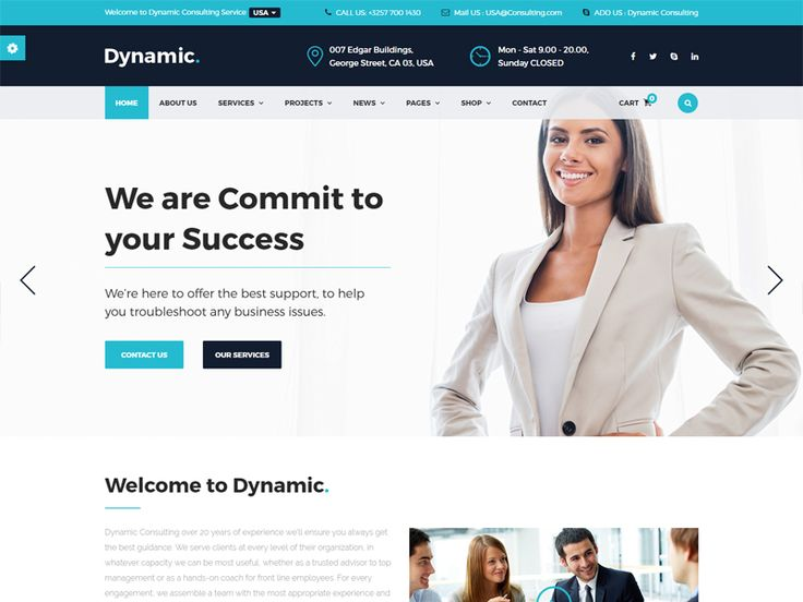 Dynamic – Business Free HTML Template is best suited for corporate website like Financial Advisor, Accountant, Consulting Firms, insurance, loan, tax help, Investment firm etc. This is a business template that is help full for online presence for Corporate Business and Financial Firms. Dynamic is Fully Responsive! Strong focus on the smartphone and tablet experience