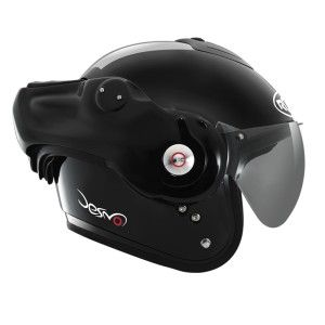 CASQUE MODULABLE ROOF - DESMO - Noir brillant