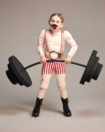 circus strongman boys costume