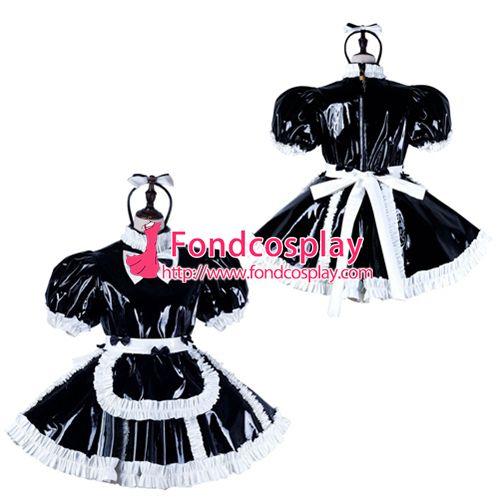 Sissy maid pvc dress lockable Uniform cosplay costume Tailor-made[G2232]