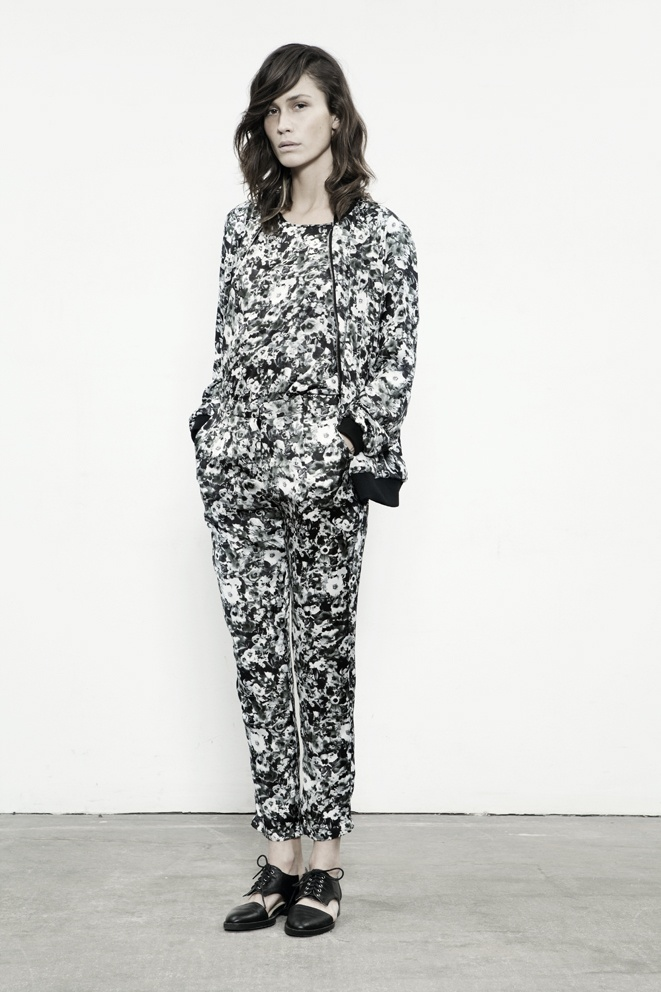 JUST FEMALE SS 13 // Cure Bomber . Cure Blouse . Apella Pants // Model : Emma Leth