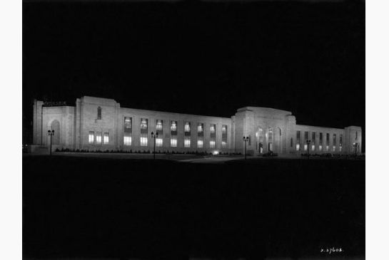 The Automotive Building at night