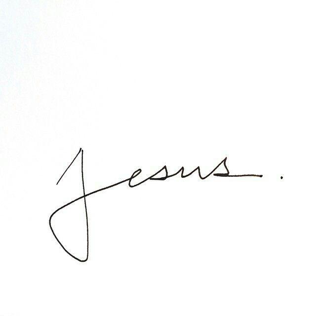 #Jesus #tattoo #simple