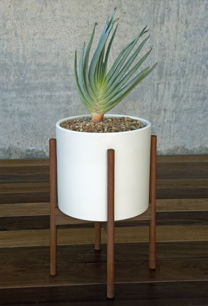 Case Study 174 Ceramic Cylinder With Wood Stand Large