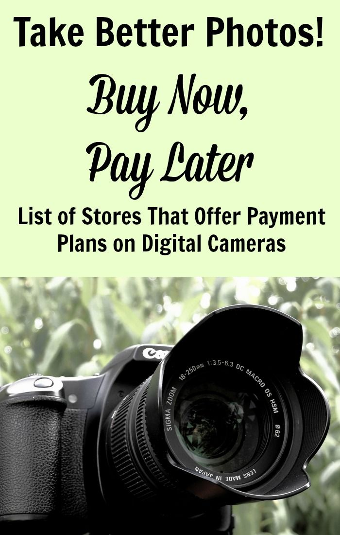 buy a digital camera now pay later