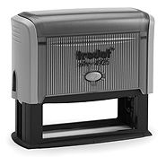 """Trodat 4925 Custom Self-Inking Stamp 1"""" x 3-1/4"""". Up to five lines of custom message, add a logo for extra impact."""