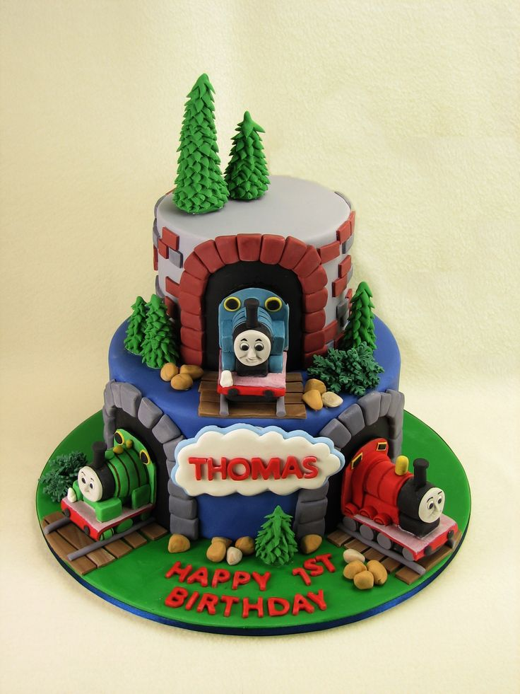 "Leanne's Cakes Page Liked · 9 August 2015 ·    The perfect cake for a little boy named ""Thomas"". This one is mud cake with strawberry frosting and covered in fondant. All decorations including Thomas and friends have been hand made with fondant."