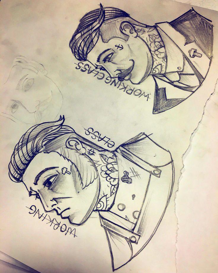 Old school gentleman tattoos working class #tattoo #design #drawing #oldschool