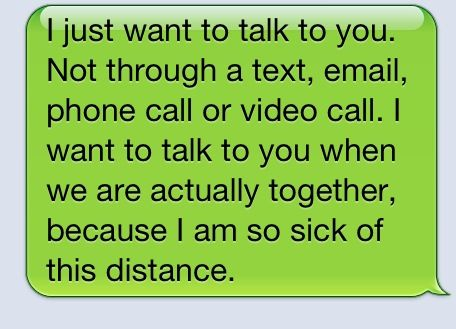 Long Distance Funny Love Quotes : Long distance only works if both want to communicate...cant be a one ...