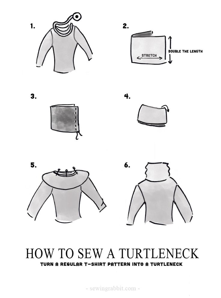 How to sew a turtleneck or cowl neck sweater