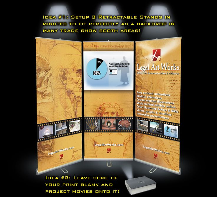Exhibition Stand Banner Design : Trade show banner stand displays three together to