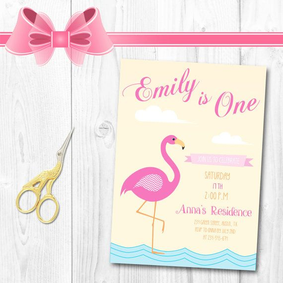 Flamingo Invitation  Let's Flamingle by TheCutePaperStudio on Etsy