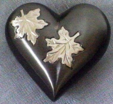 UrnsDirect2U Falling Leaves Heart Keepsake Urn - 9887