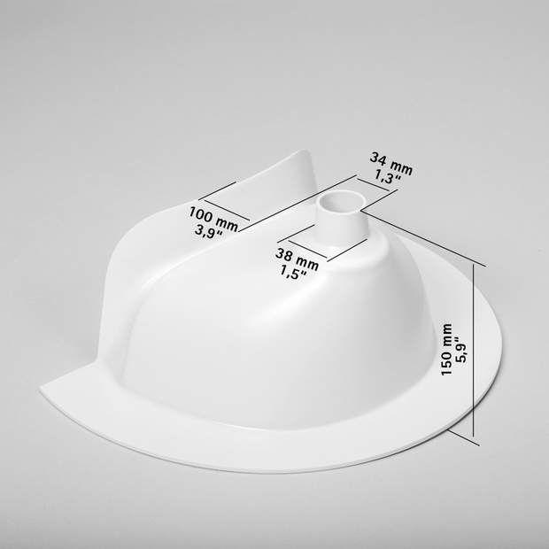 Kildwick Kompakt Urine Separator Diverter For Composting Toilets White Composting Toilets Urinal Composting Toilet